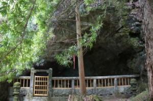 瓜生羅漢石仏のある岩窟