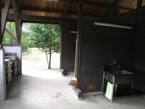 健康ふれあいの里キャンプ場 テントサイト 炊事棟