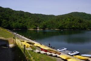 香六ダム公園キャンプ場 釣り風景―香六ダム