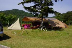 香六ダム公園キャンプ場 キャンプ風景