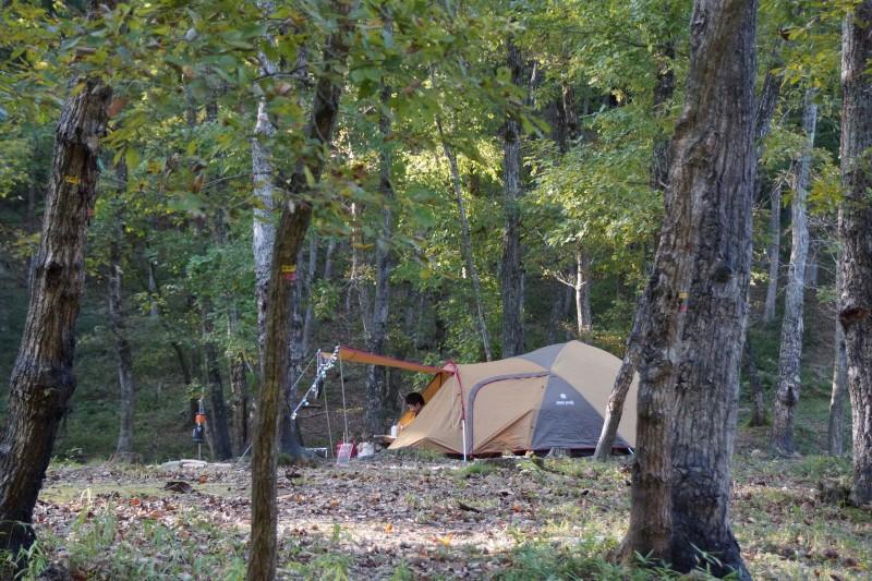 ロクロシキャンプ場 テントサイト