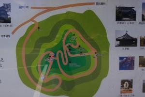 朝日山森林公園 現地案内図