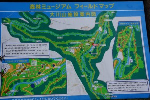 大川山キャンプ場 現地案内板