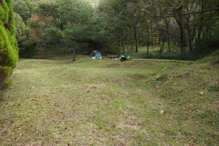 奥山キャンプ場 テントサイト