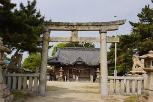 松原キャンプ場 弓削神社 (3)
