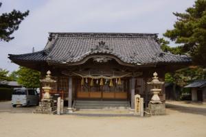 松原キャンプ場 弓削神社